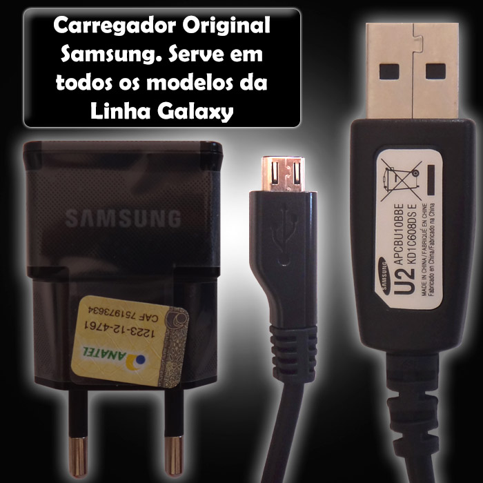 Carregador Samsung Galaxy S5 Mini Duos SM - G800 Original