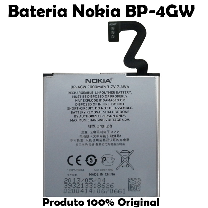 Bateria Nokia BP - 4GW Lumia 920 Original