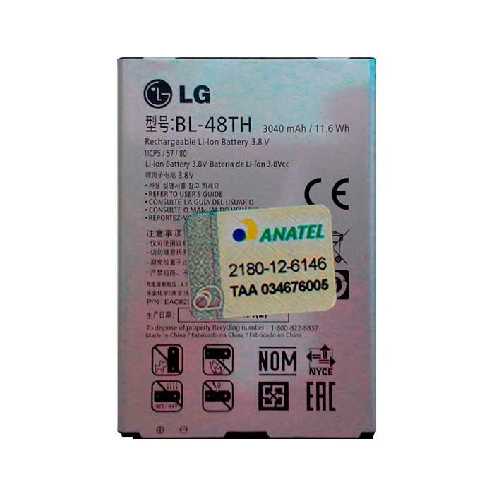 Bateria LG E989 Optimus G Pro Original BL48TH