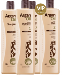 Escova Progressiva Vip Argan Oil 2 Kits (4 x 1 litro)