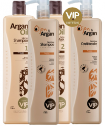 Escova Progressiva Vip Argan Oil com Kit Lavatorio Ojon Oil