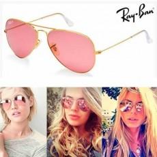 ray ban aviator rose espelhado