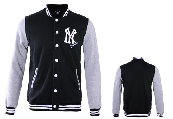 Jaqueta new york yankees preto cinza