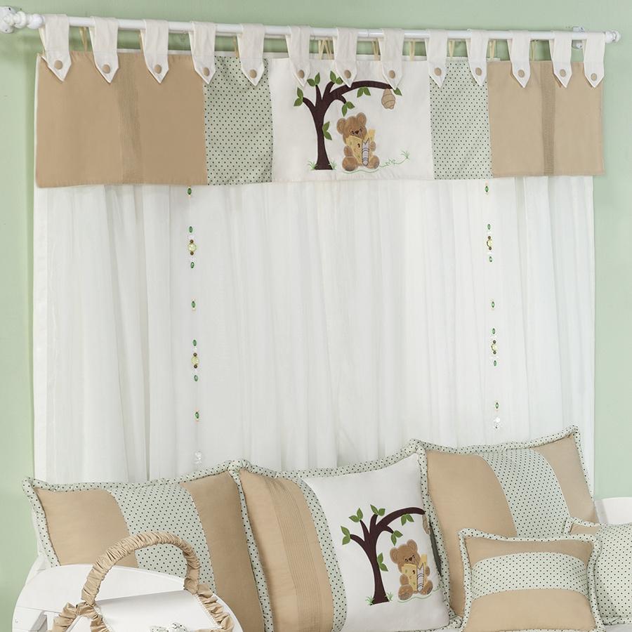 20170130222151 cortinas para quarto de bebe de urso - Cortinas de bebe ...