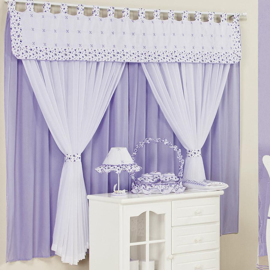 Cortina para quarto de beb menina encanto lil s 2 00m - Cortina para cuarto de bebe ...