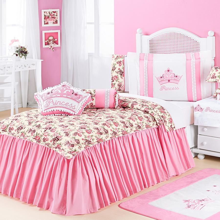 Kit colcha kids princess rosa essencial enxovais - Colchas para sofas baratas ...
