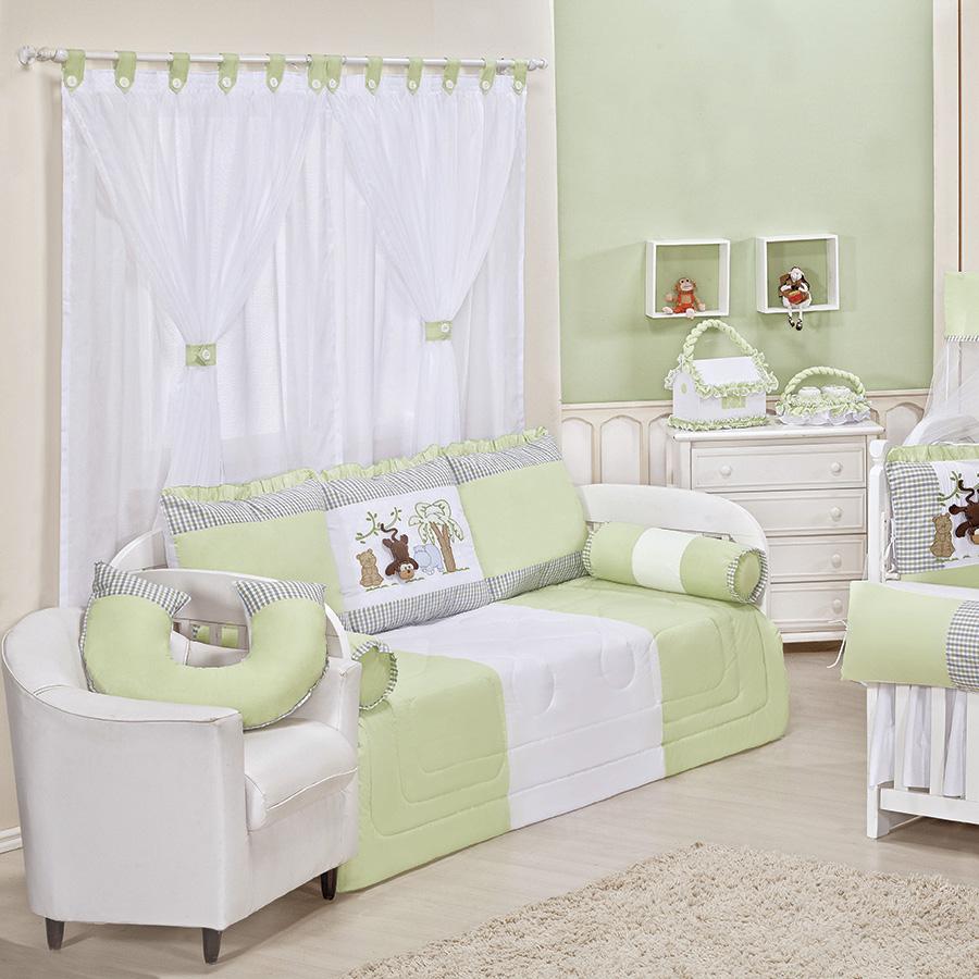 Quarto de Bebê Savana Verde Essencial Enxovais ~ Quarto Tema Verde