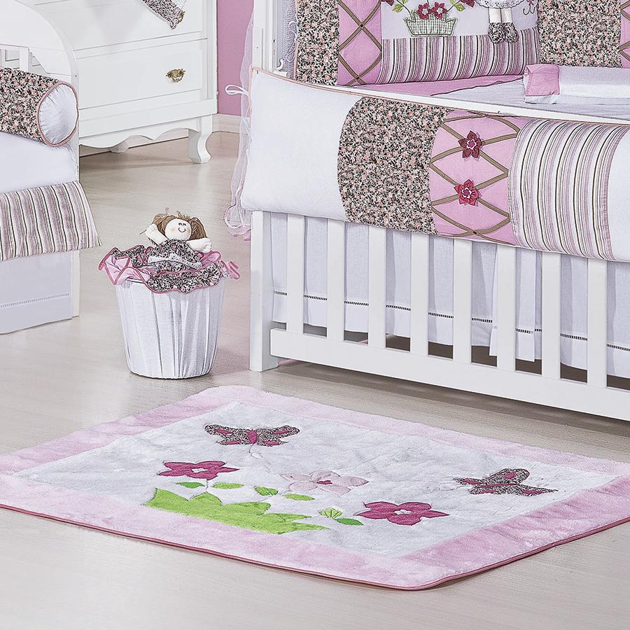 Tapete Quarto Bebê Mila Rosa Essencial Enxovais ~ Quarto Tema Rosa