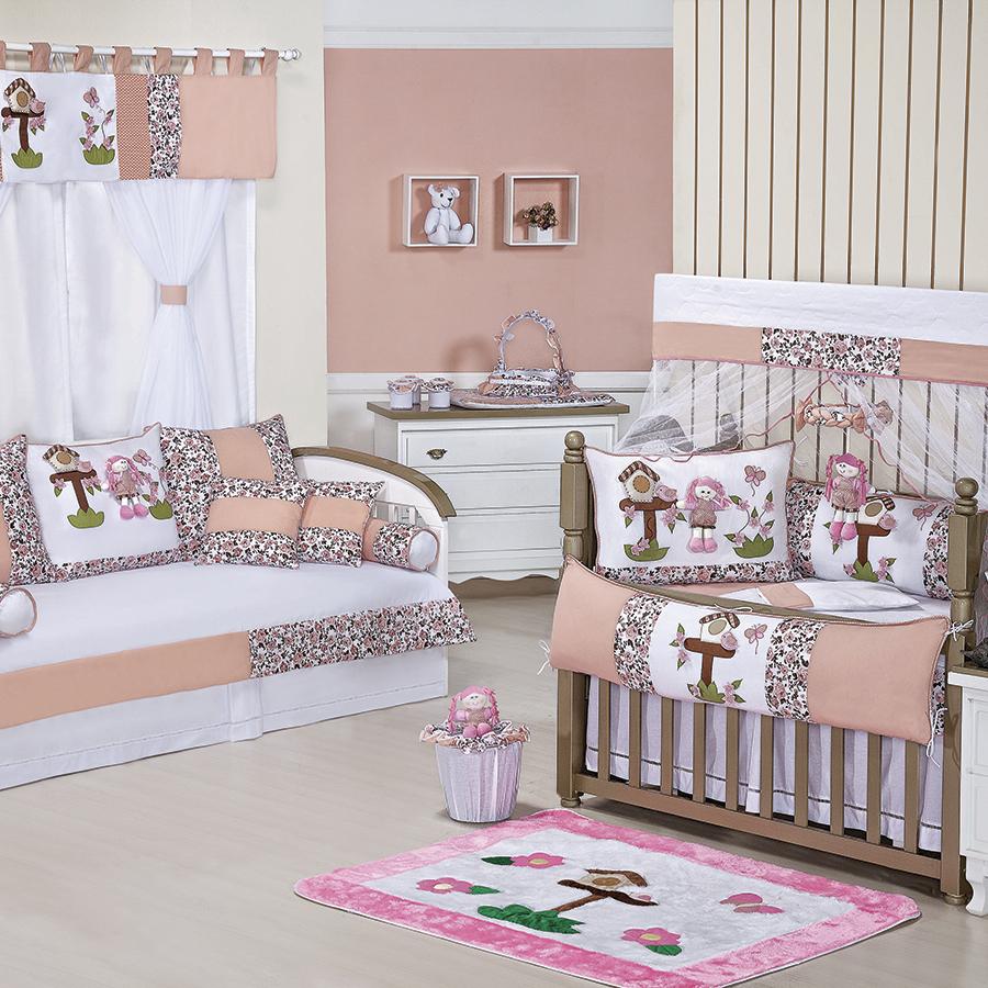 quarto bebe tema jardim:Quarto de Bebê Completo Juju Salmão – Essencial Enxovais
