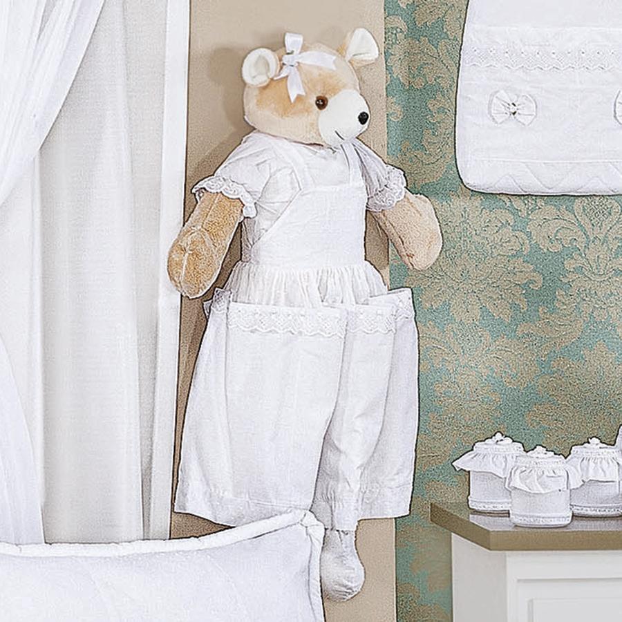 Quarto Para Bebe Urso Soninho Rosa ~ Porta Fraldas Ursa Enxoval Para Quarto De Bebê Menina Belle Ros?