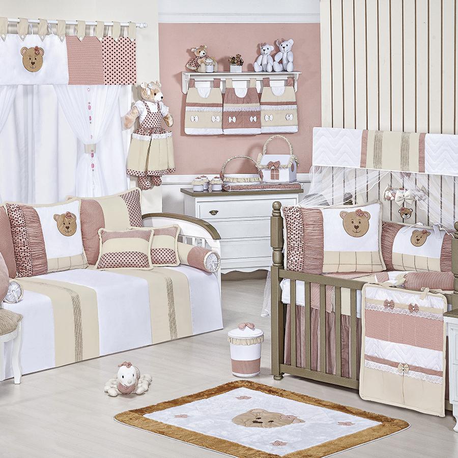 Quarto de Bebê Aurora Rosê Essencial Enxovais ~ Quarto Tema Rosa