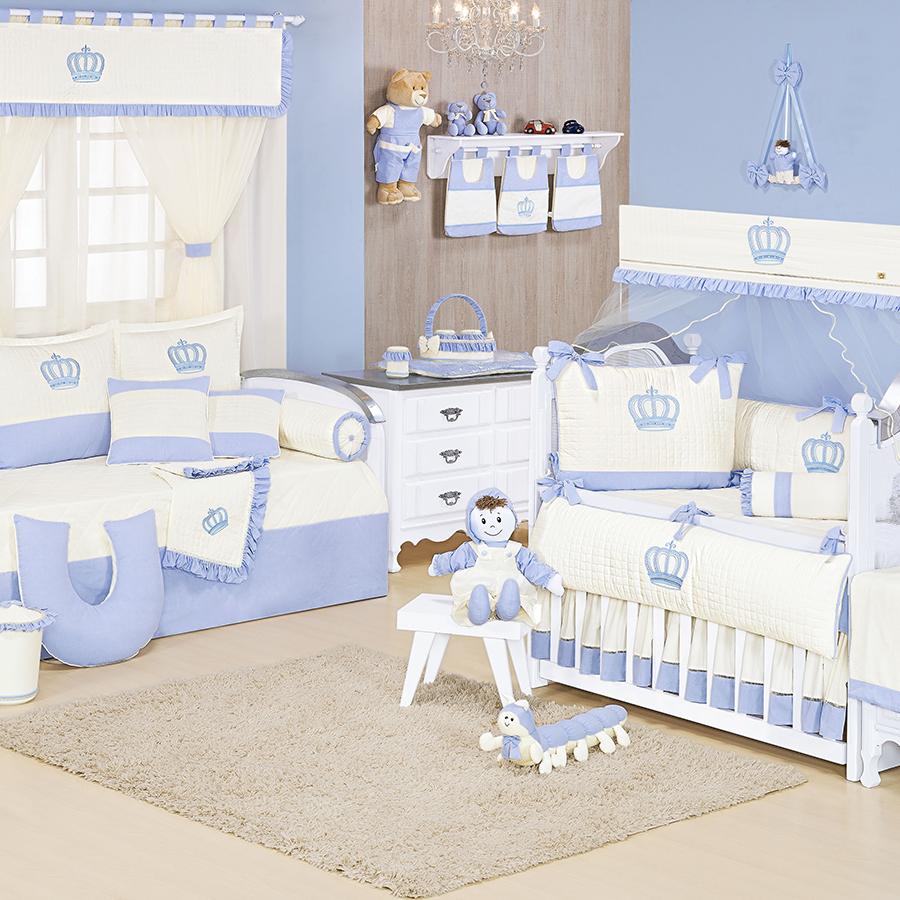 Quarto de Bebê Realeza Azul  Essencial Enxovais