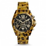 Relógio Michael Kors MK 5904 Womens MK5904 Chronograph Black Dial Resin Bracelet Watch