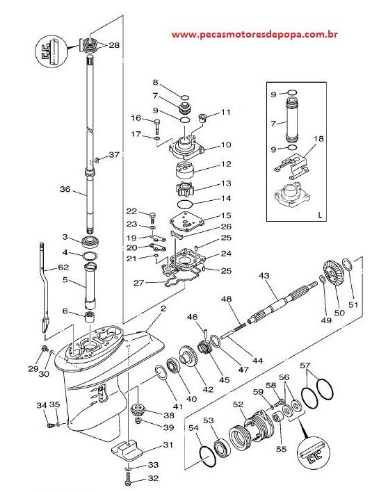 Rotor Da Bomba Dagua Yamaha 25 Hp Vm Bm E 40 Hp X