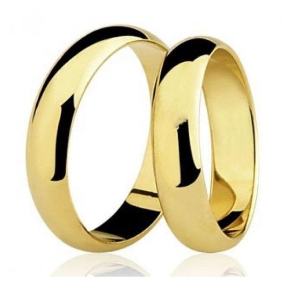 Par de Aliança Casamento e Noivado em Ouro 18K / 750 com 4mm