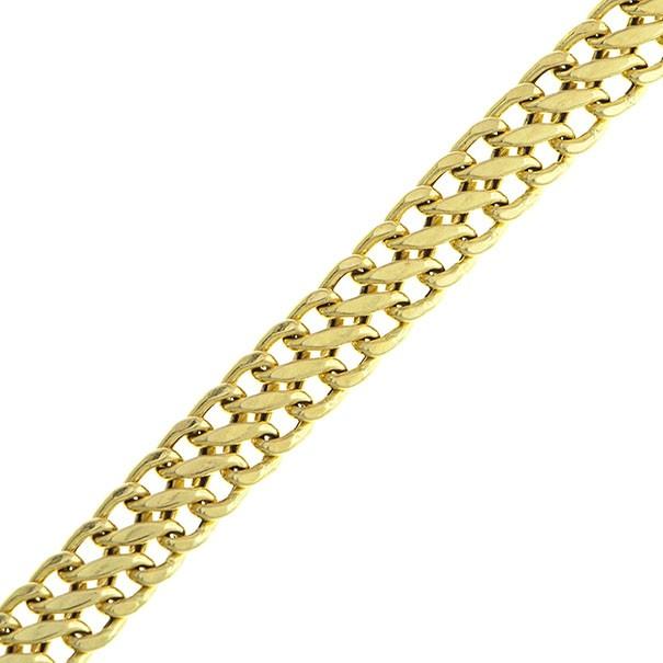 Pulseira em Ouro 18k / 750 Lacraia com 18cm / 5,5mm