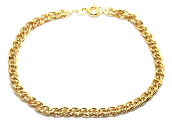 Pulseira em Ouro 18k / 750 Malha Italiana 20cm