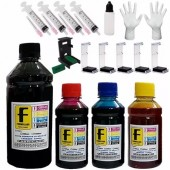 Kit Recarga Cartuchos 550ml Impressora Hp Lexmark Canon + Snap Fill