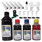 Kit Recarga Cartuchos 2500ml Impressora Hp Lexmark Canon + Snap Fill