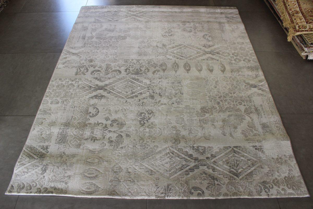 Tapete Belga Macio Alto Relevo Patchwork Marfim 2,00 x 2,50m