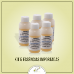 Kit 5 Essências Importadas 50ml