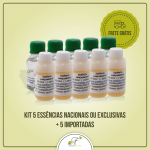 Kit 5 Essências Nacionais ou Exclusivas 100ml + 5 Importadas 50ml