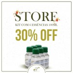 Kit Store com 6 Essências 100ml