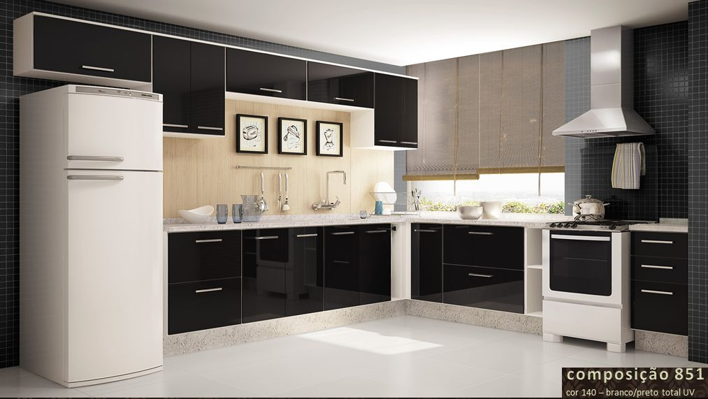Aparador Aliança ~ Wibamp com Armario De Cozinha Simples Preto E Branco ~ Idéias do Projeto da Cozinha para a