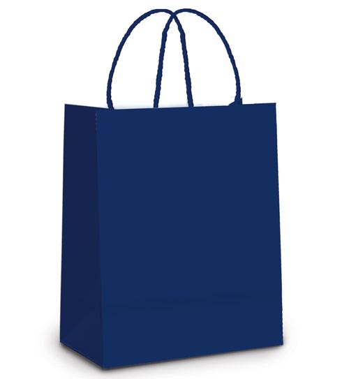 Bolsa De Festa Azul Marinho : Sacola papel azul marinho m unidades