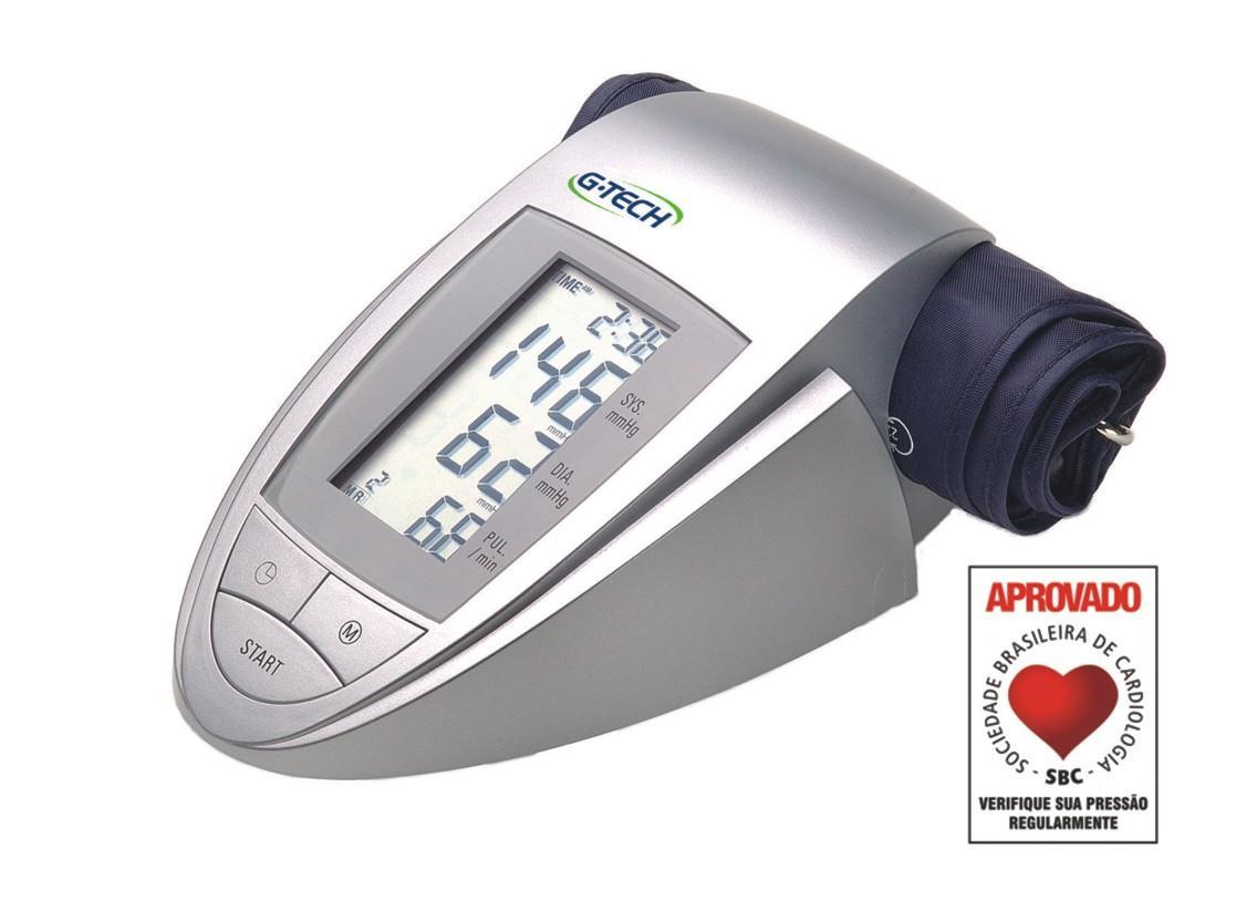 de Pressão Arterial Automático de Braço Master G Tech BP3AA1 1 #A62A25 1117x833 Balança Digital Para Banheiro G Tech