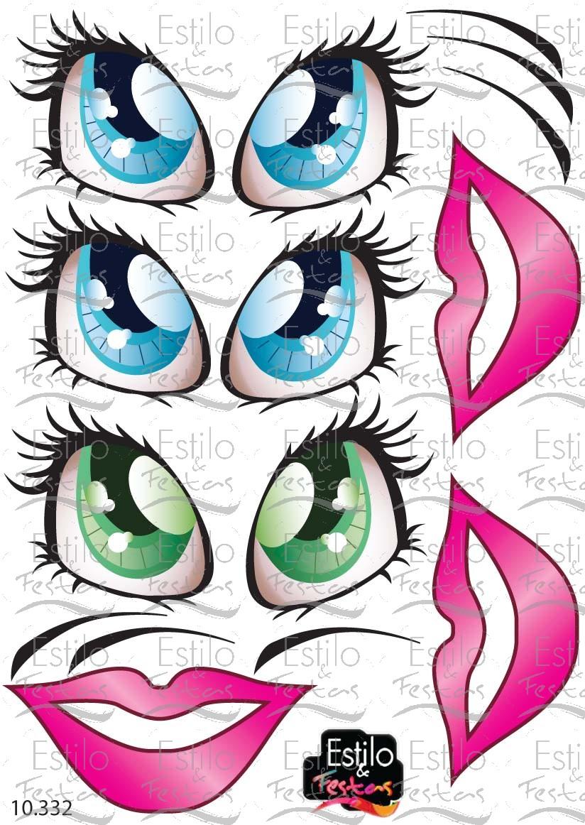 Adesivo Para Geladeira Kombi ~ Adesivo para Bal u00e3o Olhos e bocas Princesa e bonecas Acessórios para festas Acessórios para
