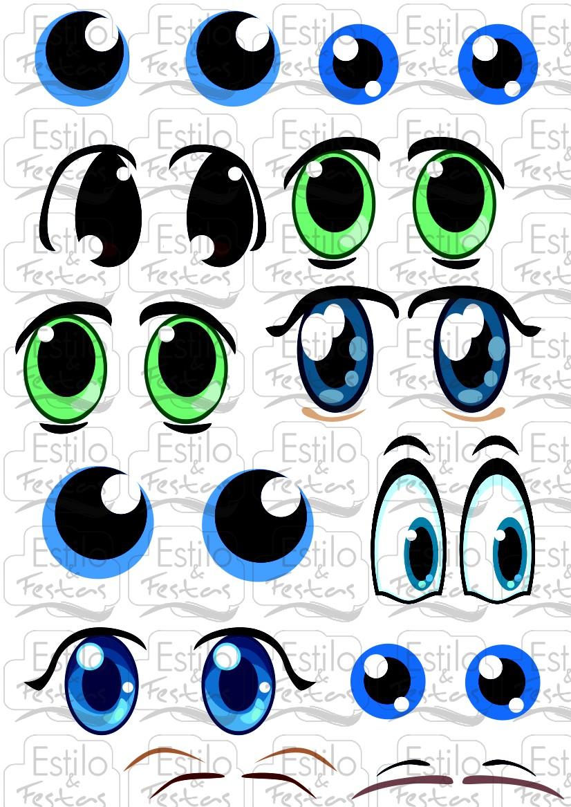 Adesivo Boca De Palhaco ~ Adesivo para bal u00e3o Cartela com Olhos de Bonecos Acessorios