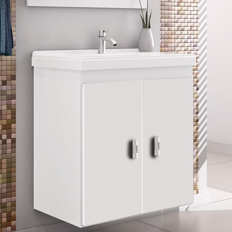 Gabinete Para Banheiro Orion 1 Porta E 1 Gaveta Vtec Pictures to pin on Pinte -> Gabinete De Banheiro Diy