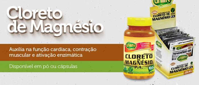 Cloreto de Magnésio - Auxilia na função cardíaca, contração muscular e ativação enzimática - Disponível em pó ou cápsulas