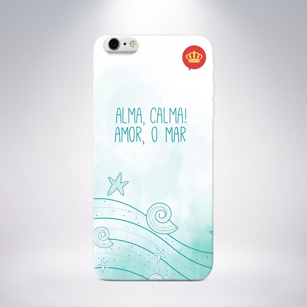 Capa para Celular Coronitas Alma, Calma para iPhone/Galaxy/Motorola