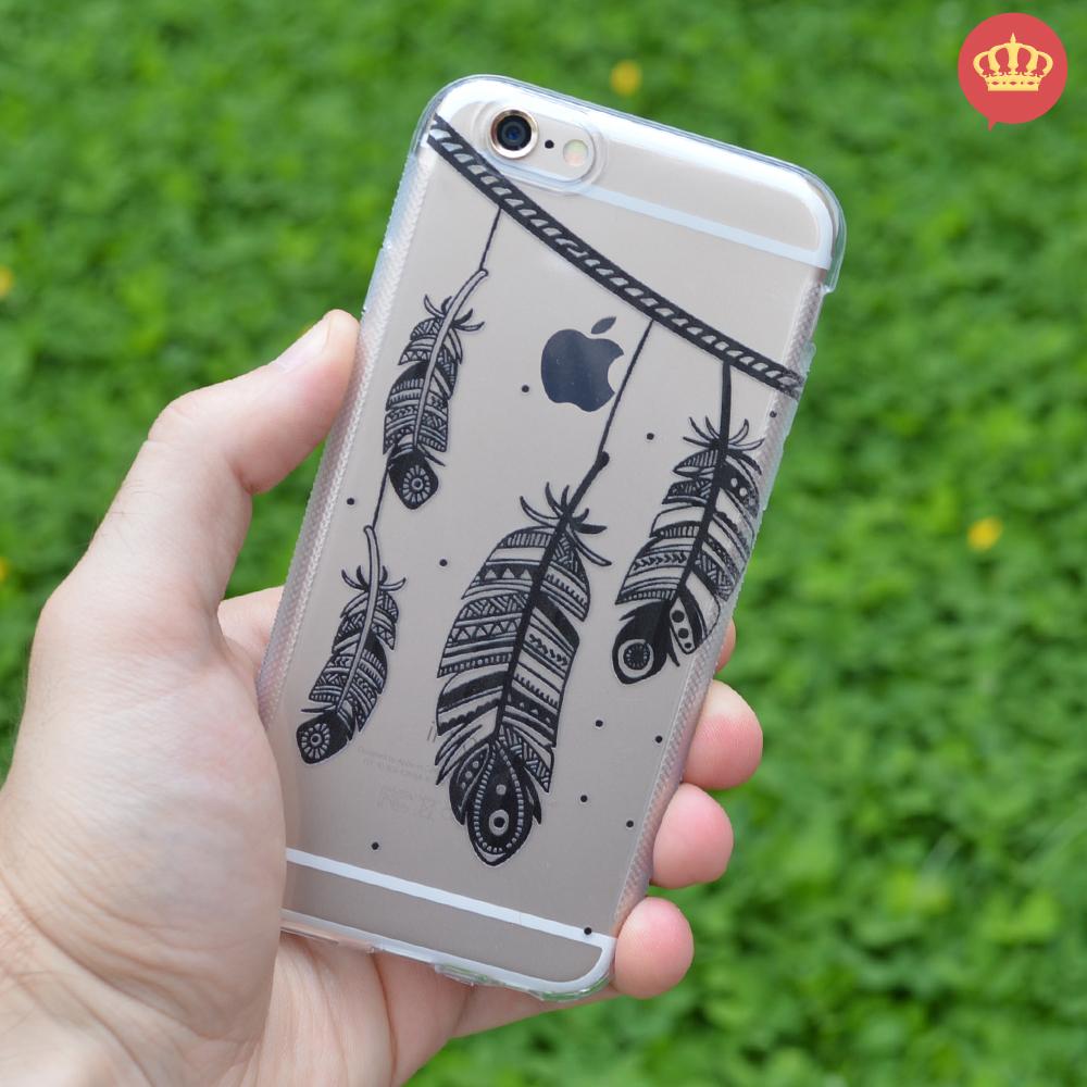 Capinha de Silicone Transparente Boho Chic para iPhone 5/5S/6/6S/6 ...
