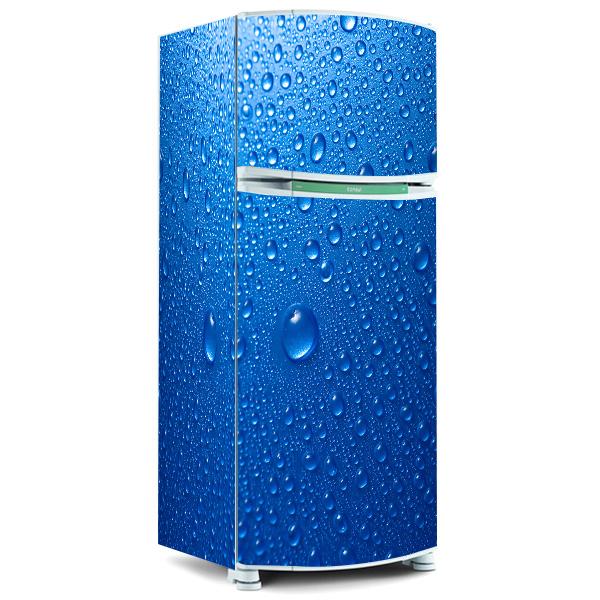 Aparador Ikea Blanco ~ Envelopamento de geladeira Envelopamento de geladeira Gotas Fran Adesivos
