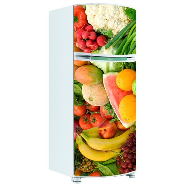 Adesivo De Natal Para Vidro ~ Adesivo de Geladeira Inteira Frutas e Legumes