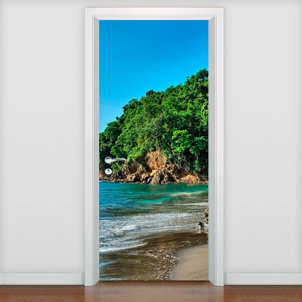 Adesivo de porta adesivo de porta praia 3 fran adesivos for Adesivos p porta de vidro
