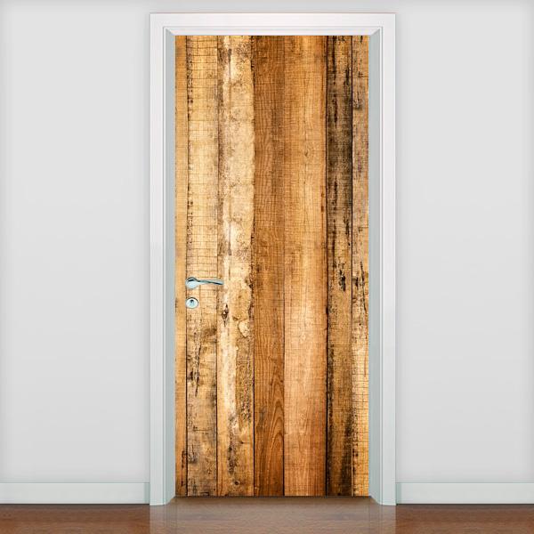 Aparador De Sobrancelha Kiss ~ Adesivo de Porta Diversos Textura madeira mod 05